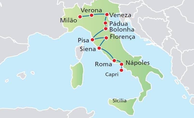 Porque alugar um carro na Itália