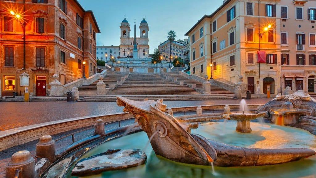 Praças de Roma na Itália
