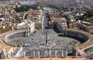 Basílica de São Pedro no Vaticano - vista
