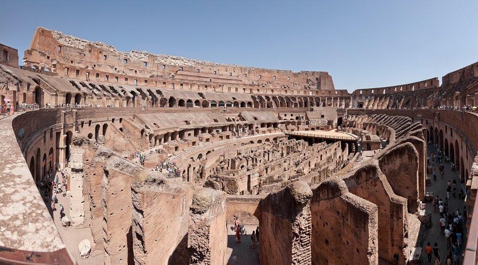 O grande Coliseo de Roma