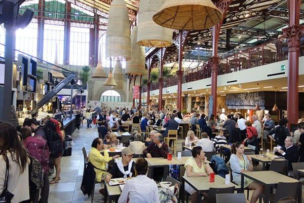 Mercado Central em Florença na Itália