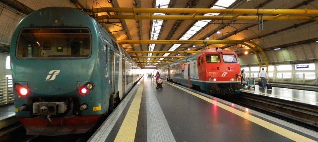 Transportes públicos entre os aeroportos e o centro de Roma