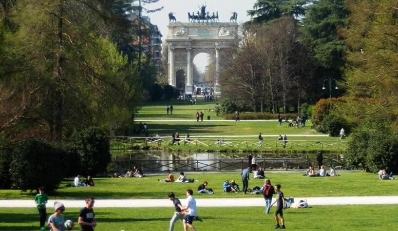 Parque Sempione em Milão