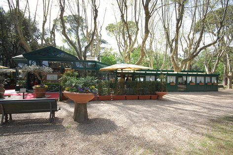 Restaurante no Jardins da Villa Borghese em Roma