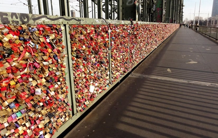 Cadeados na Ponte Vecchio em Florença
