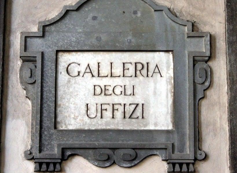 Informações sobre a Galeria dos Ofícios em Florença