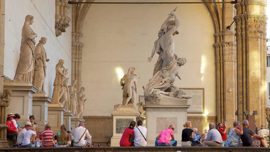 Salas na Galleria Degli Uffizi em Florença