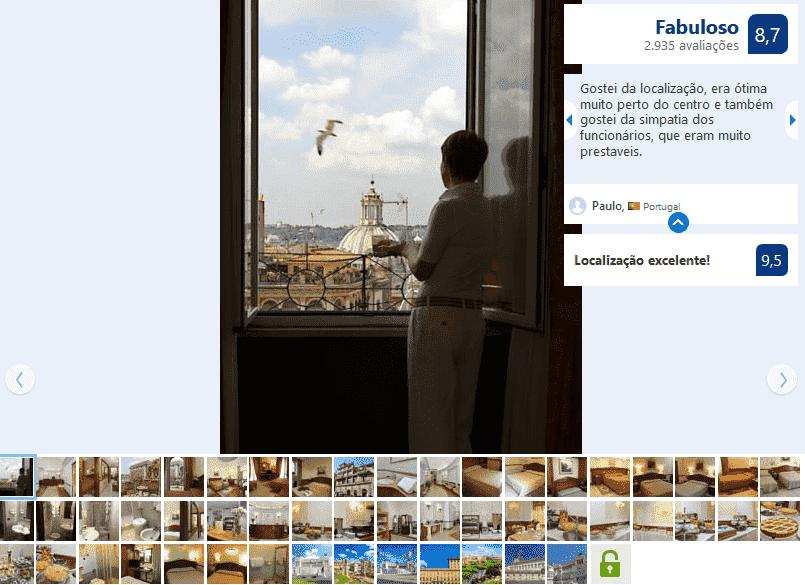Hotel Hiberia para ficar em Roma