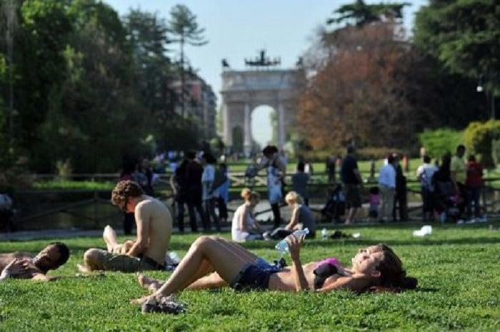 Passeios no Sempione Park em Milão