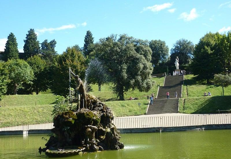 Estrutura do Jardins de Boboli em Florença