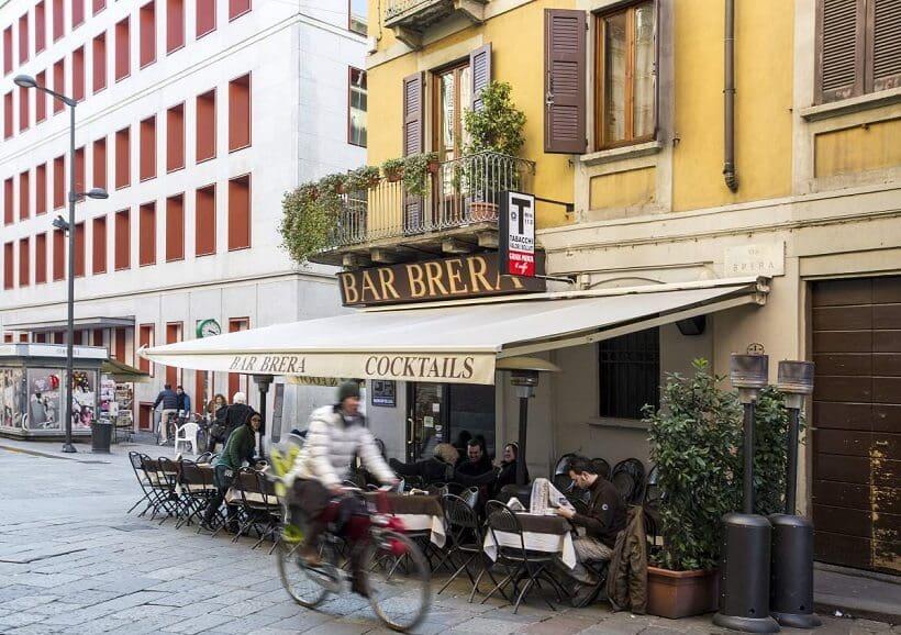 Atrativos em Brera em Milão