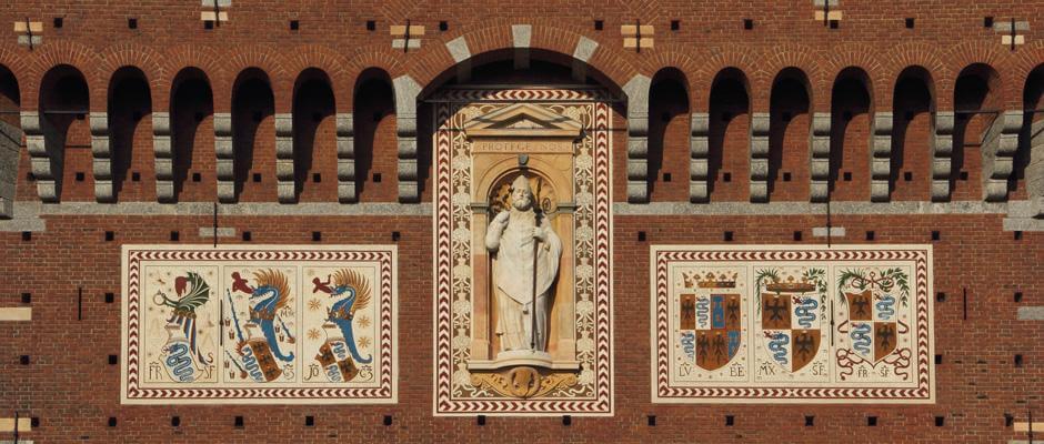 Obras de arte no Castelo Sforzesco em Milão