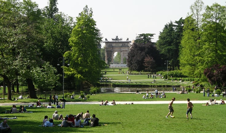 Sempione Park em Milão