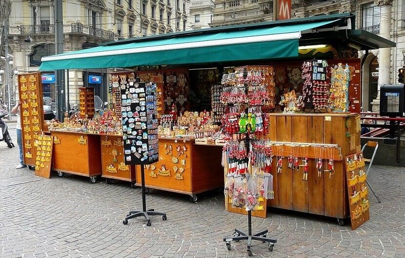 Compra de lembrancinhas em Milão