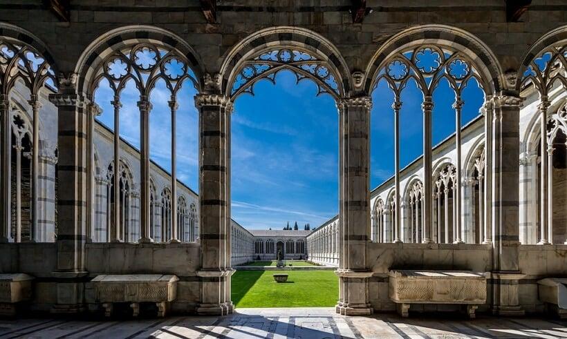 Camposanto Monumentale em Pisa na Itália