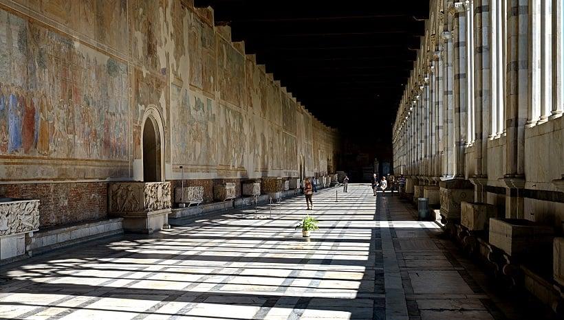 Estrutura do Camposanto Monumentale em Pisa