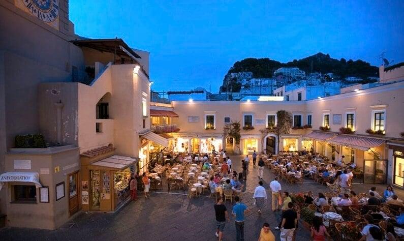 Centro de Capri na Itália
