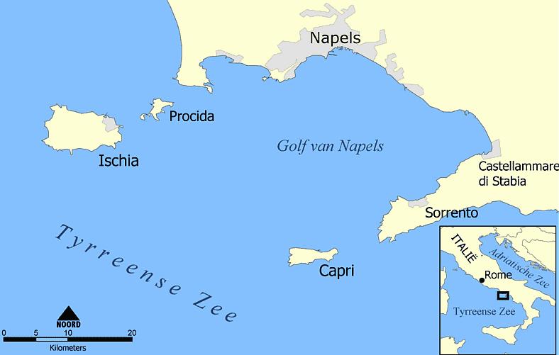 Ilha de Capri na Itália