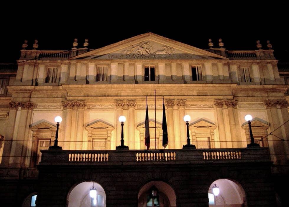 Teatro alla Scala de Milão na Itália