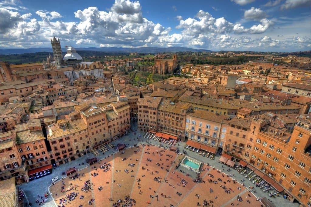 Centro histórico em Siena