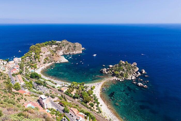 Praias em Taormina na Sicília