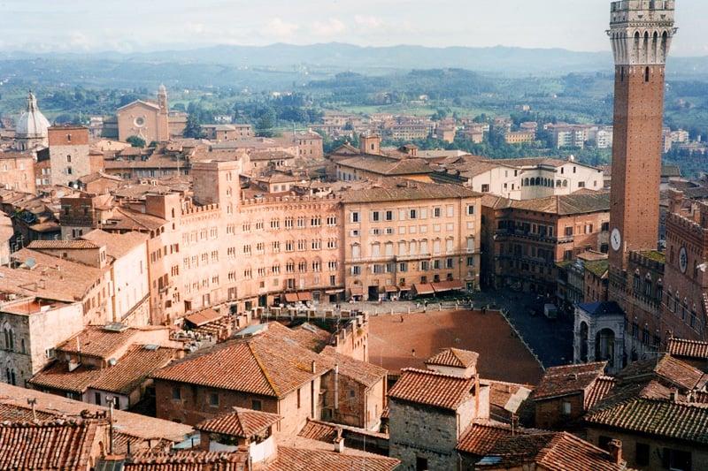 Região central em Siena