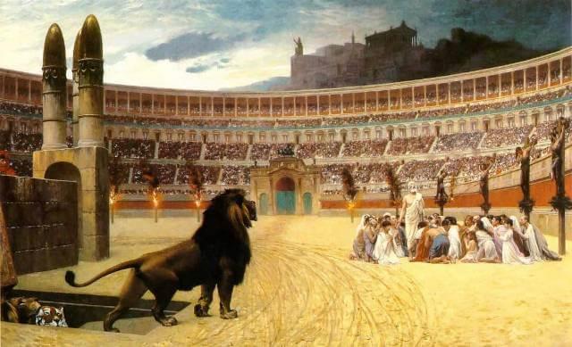 O Coliseu de Roma na Itália