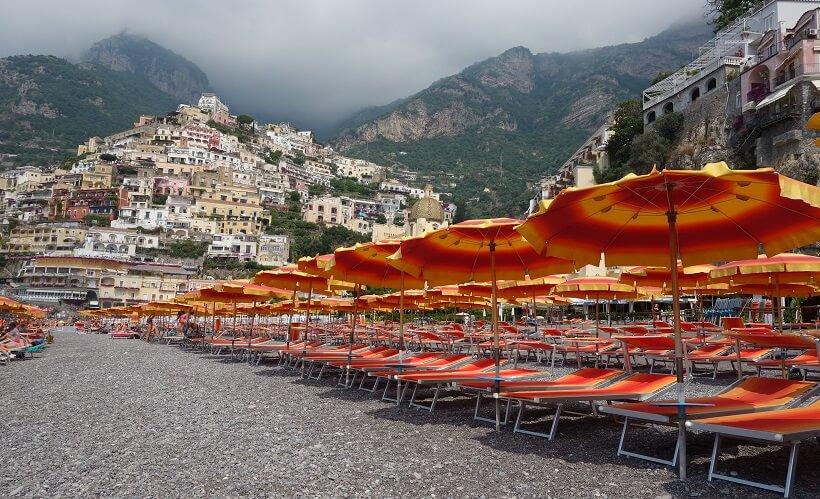 Praia de Marina Grande em Amalfi
