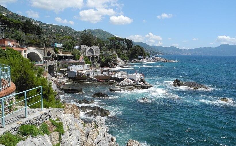 Praia Nervi em Genova