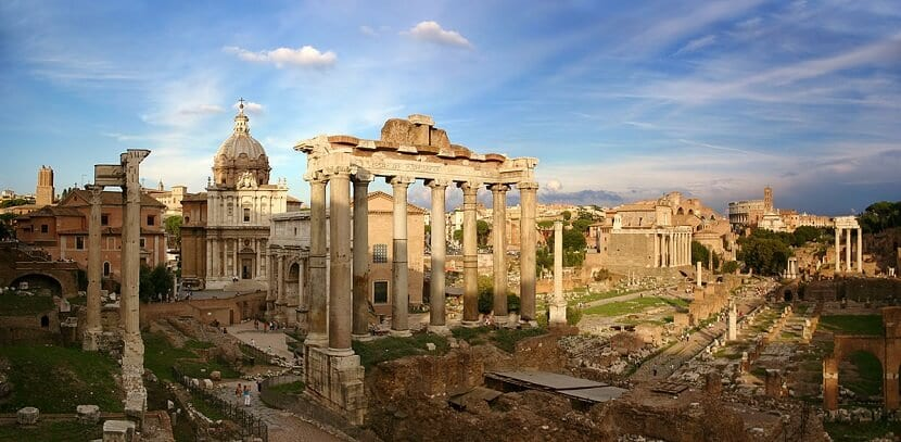 Fórum Romano e Paladino na Itália