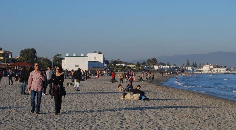 Praia do Poetto em Cagliari