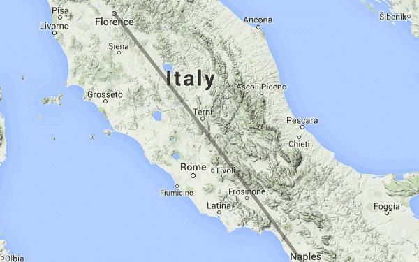 Mapa de Nápoles na Itália