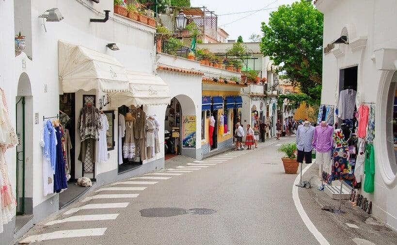 Centro de Positano na Costa Amalfitana