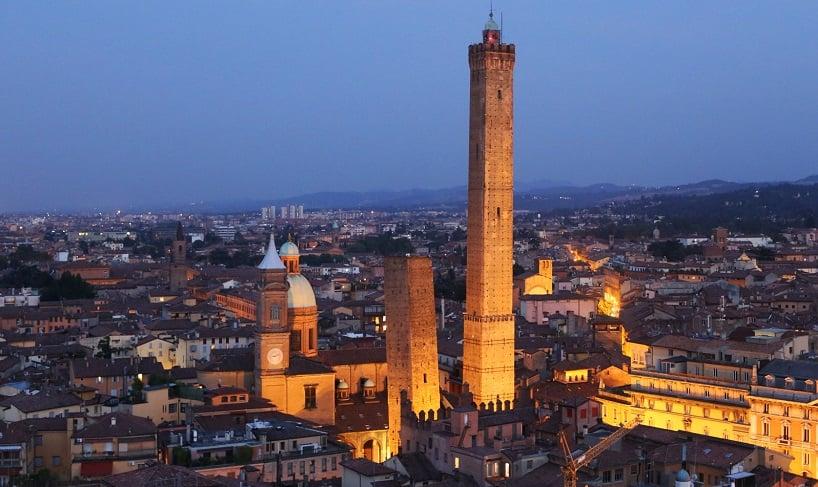 Vista da cidade de Bolonha na Itália