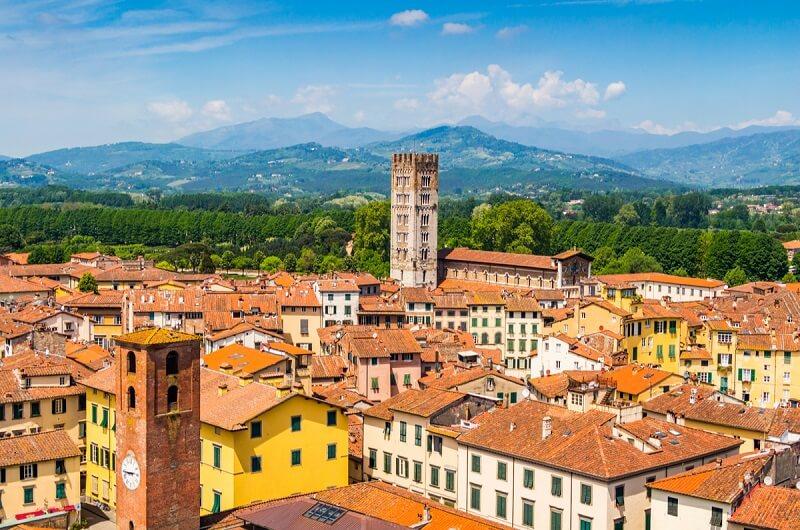 Vista da cidade de Lucca na Itália