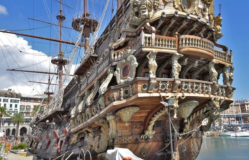 Barco do filme Piratas em Génova