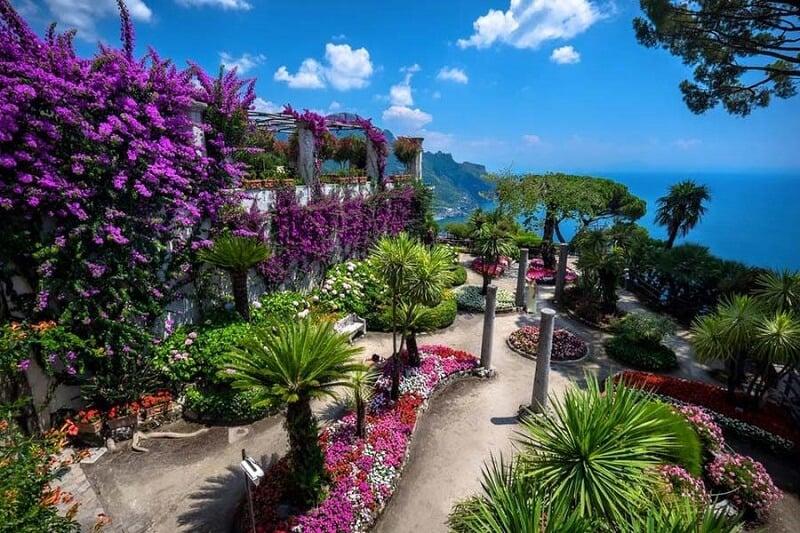 Fotos ao longo da Villa Rufolo em Ravello