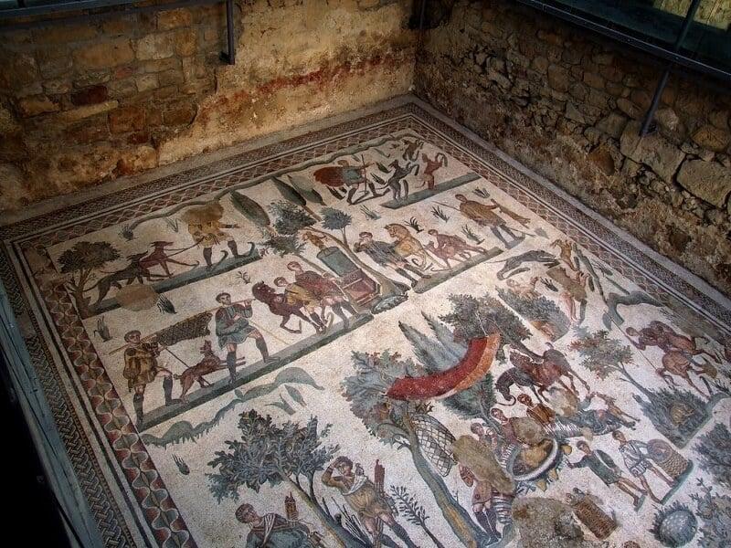 Villa Romana del Casale em Sicília