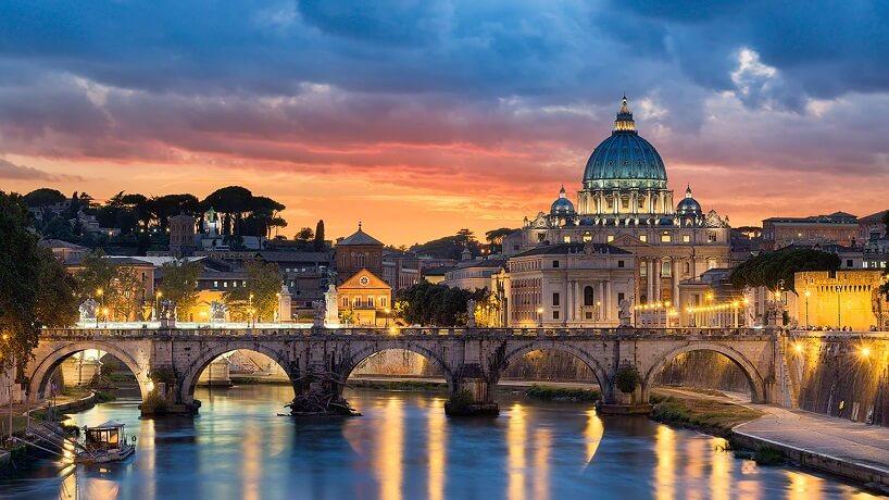 Cidade de Roma na Itália