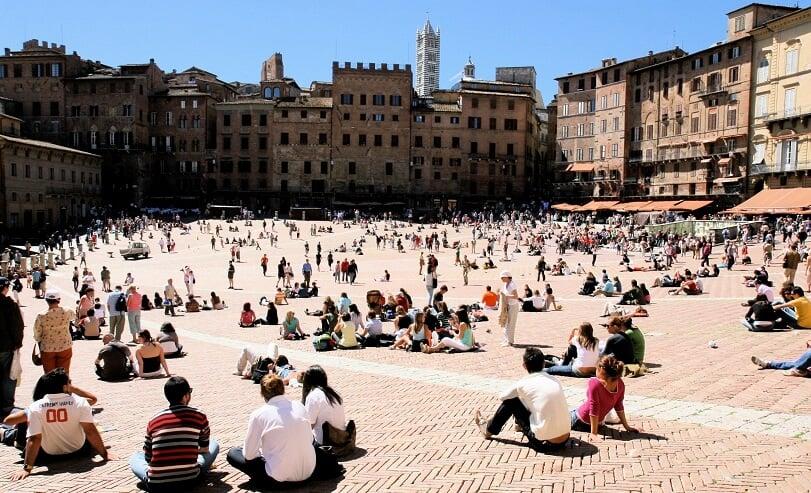 Piazza del Campo em Siena