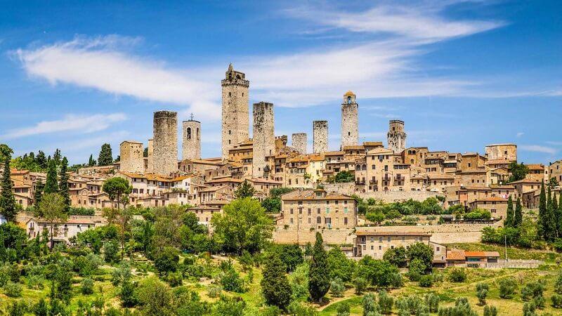 Vista da cidade de San Gimignano na Itália