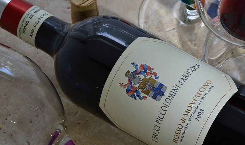 Vinho da vinícola Ciacci Piccolomini d'Aragona em Montalcino