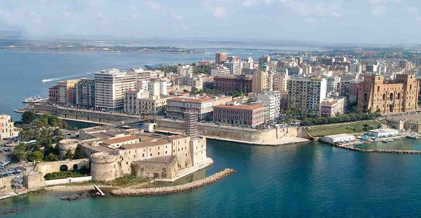 Vista da cidade de Taranto