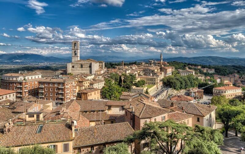 Vista da cidade de Perugia