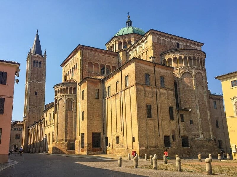 Parte de trás do Duomo di Parma