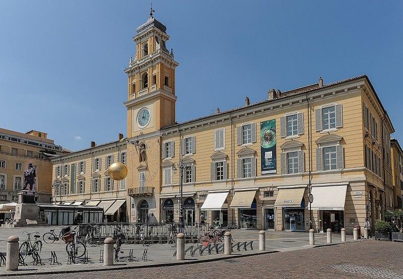 Palácio do Governador na Piazza Garibaldi em Parma