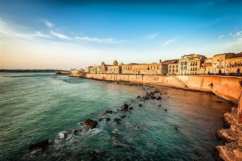 Vista da cidade de Siracusa na Itália
