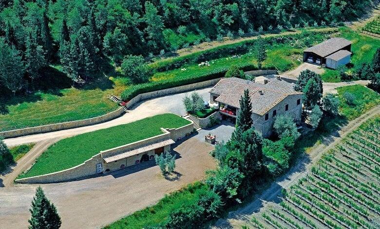Vista da Azienda Agricola Le Gode