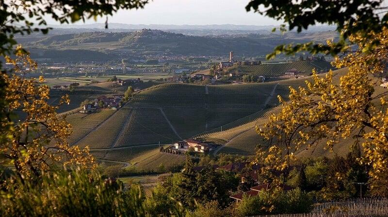 Vista da vinícola Marchesi di Gresy em Turim