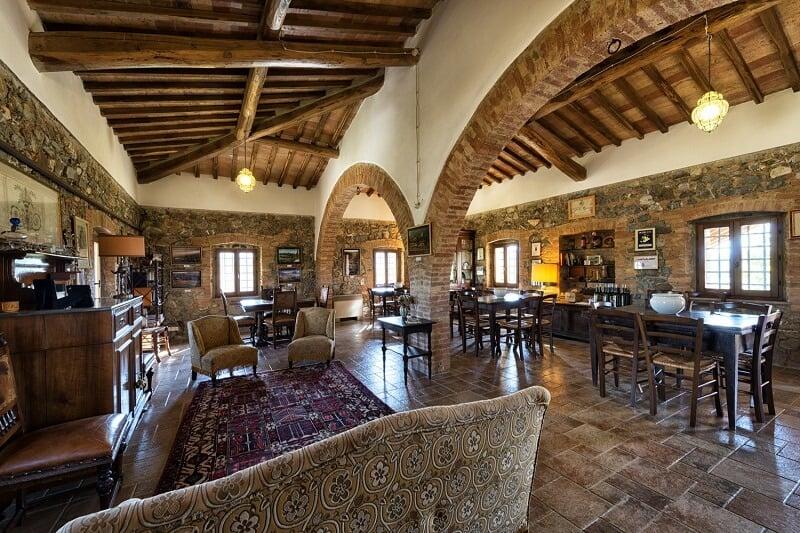 Interior da Casato Prime Donne em Montalcino